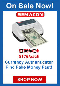 Find Fake Money Fast with Semacon's S-950 Currency Authentication helps you find fake money fast!!