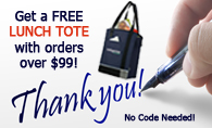 Free Lunch Bag Promo with orders of $99 or more.