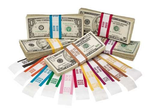 bill straps currency money wrappers