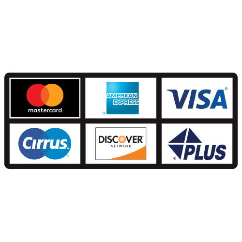 Atm Card Acceptance Heavy Duty Decal 6 Logos 2 Rows Of