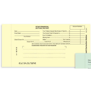 Notice Of Deposit Correction Debit Form Netbankstore Com