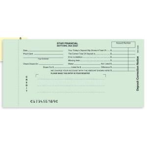 Notice Of Deposit Correction Credit Ticket Netbankstore Com