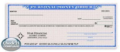 Personal Money Order 4 Part Parts Different Netbankstore Com