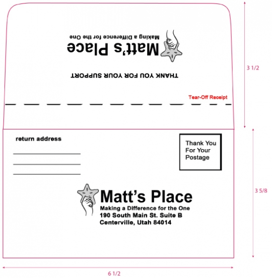 Remittance Envelope With Perforation And Inside Tint - Remit envelope template