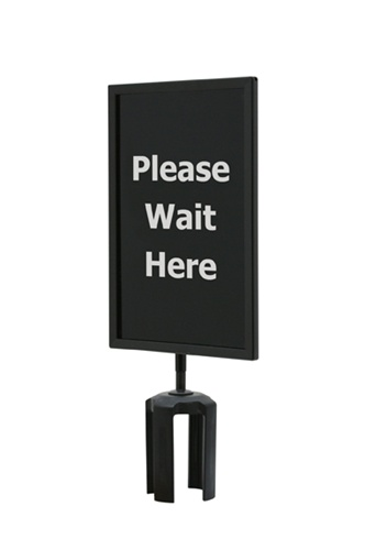Black Sign Frame Please Wait Here Size 7 Quot X11