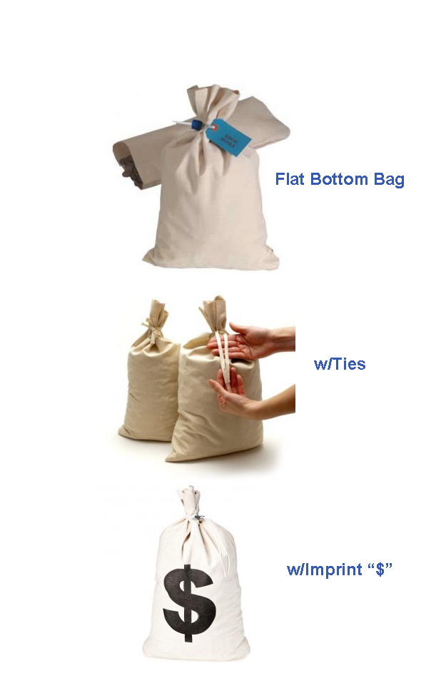 Canvas Shipping Bags For Transporting Loose Coins