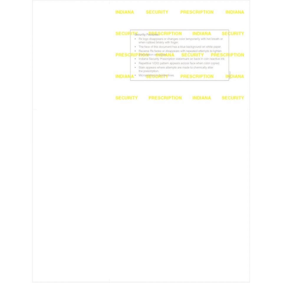 Indiana Rx Prescription Laser Sheets 500 Sheets