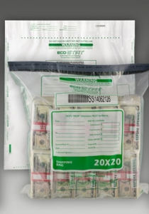 20W x 20H Single Pocket Deposit Bags White