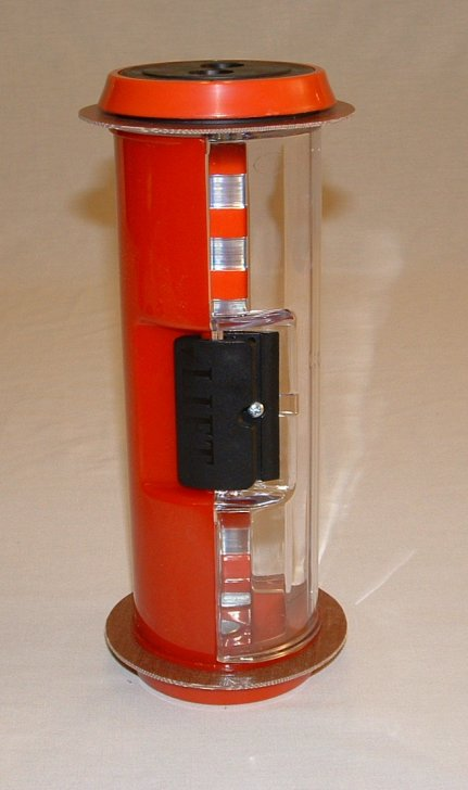 Pneumatic Tube Straight Body Carrier, Half Colored Red 4.5""